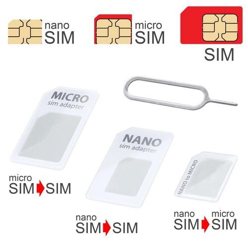 mobilNET SIM adaptér UNI 3 v 1, biely