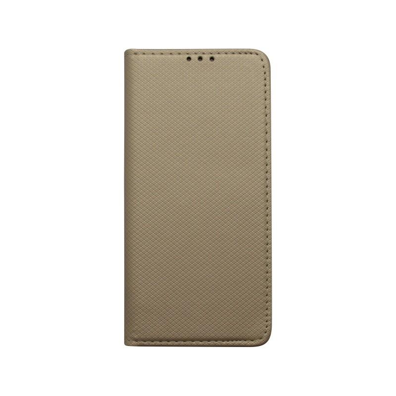 Bočné knižkové puzdro Samsung Galaxy S10 zlaté, vzorované
