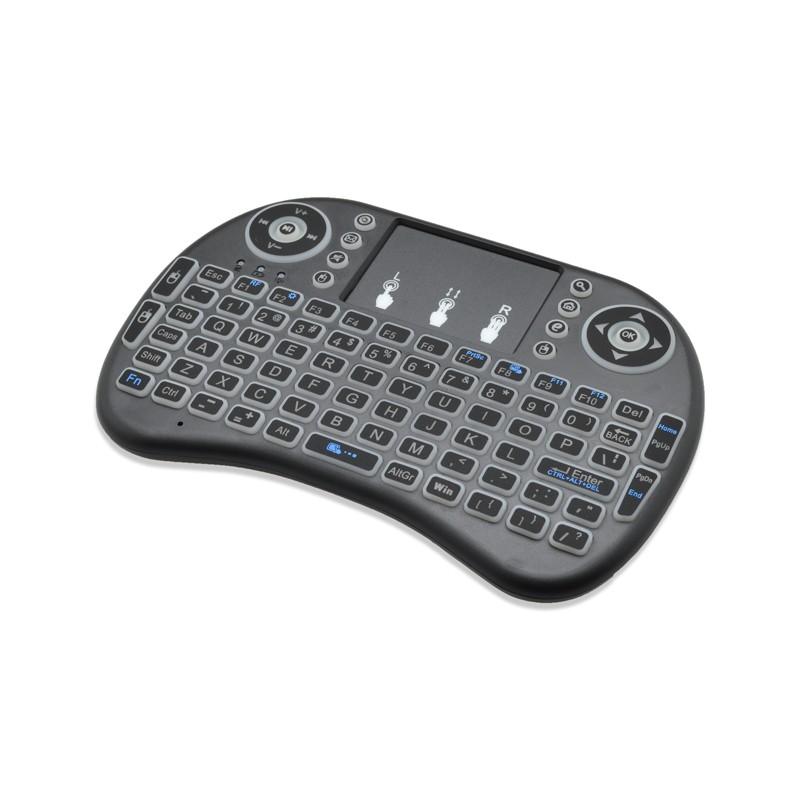 Čierna mini bezdrôtová klávesnica +  touchpad