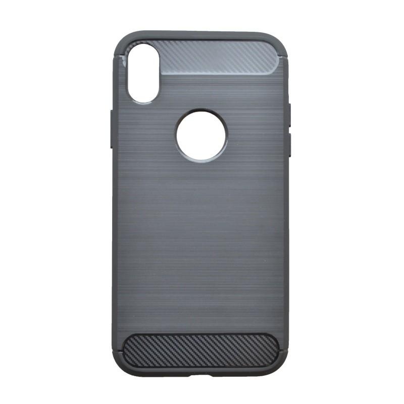 Gumené puzdro Simple iPhone  X/XS čierne