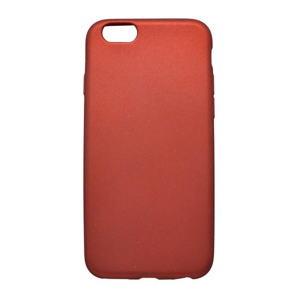 Gumové puzdro s trblietkami iPhone 6, červené