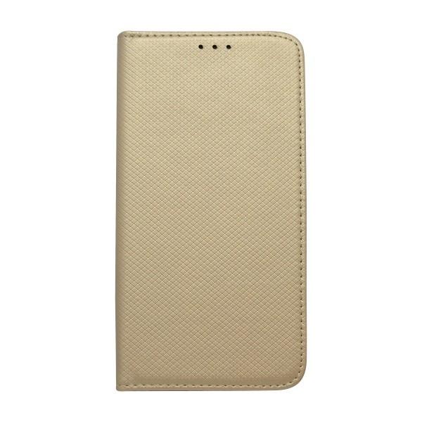 Bočné knižkový obal iPhone XS MAX zlatý, vzorovaný povrch