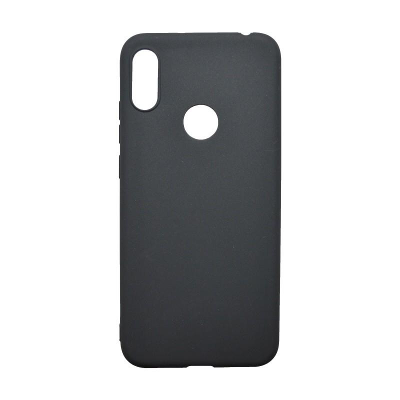 Matné gumené puzdro Huawei Y6 2019 čierne