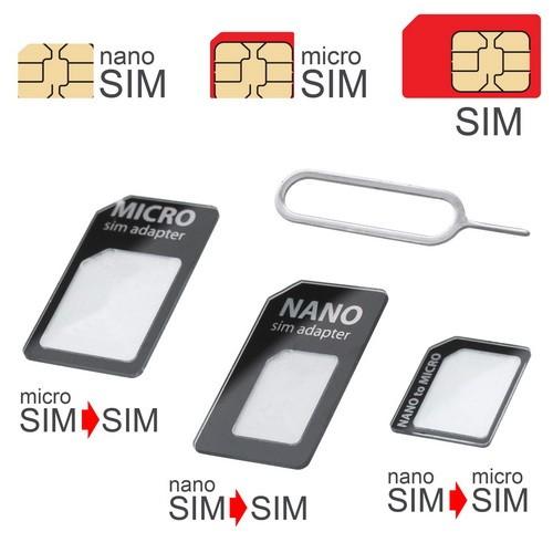 mobilNET SIM adaptér UNI 3 v 1, čierny