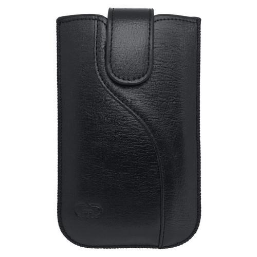 Univerzálne koženkové puzdro XL, čierne