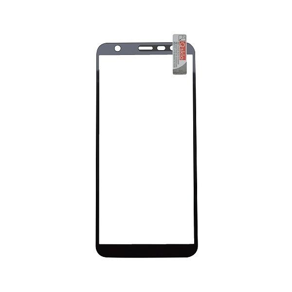 Ochranné Q sklo Samsung Galaxy J4 Plus čierne, fullcover, 0.33 mm