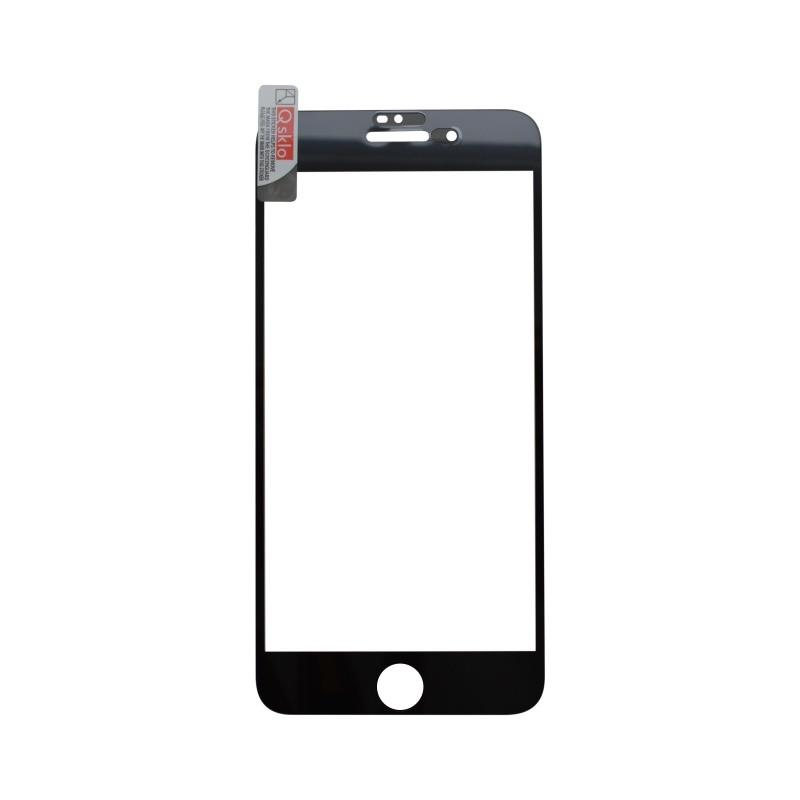 iPhone 8 Plus (7 Plus) čierne, Ochranné sklo FullGlue, Q Sklo