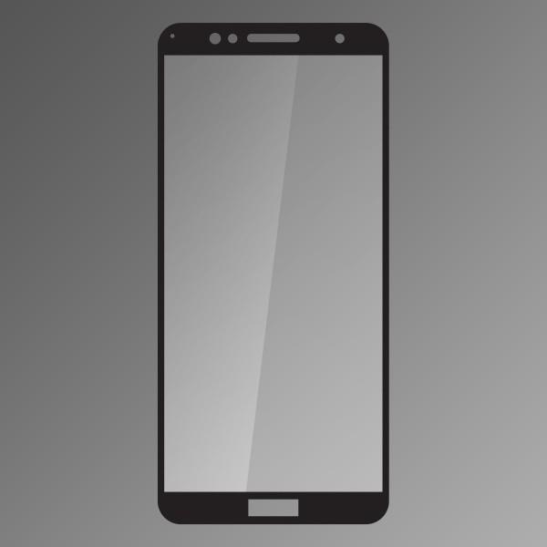 Ochranné sklo Q sklo Huawei Honor 7A čierne, fullcover