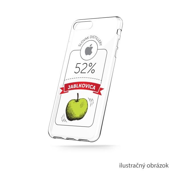 Priehľadné silikónové puzdro iPhone X, vzor jablkovica