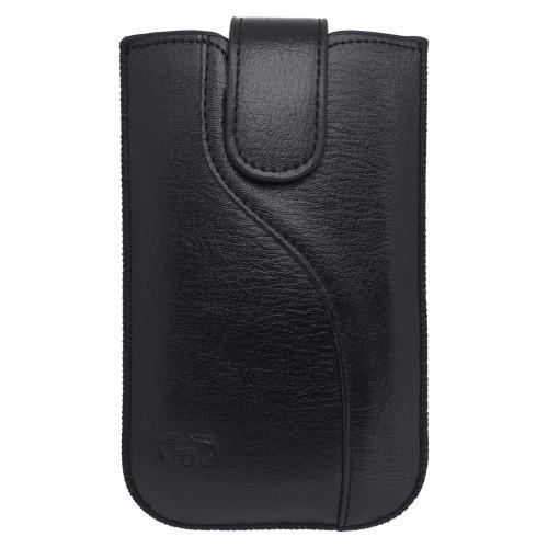Univerzálne koženkové puzdro, čierna