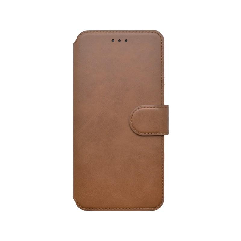 Samsung Galaxy A20s hnedá bočná knižka, 2020