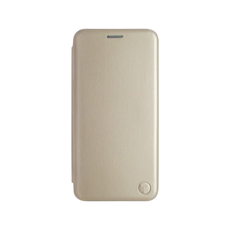 mobilNET knižkové puzdro Samsung Galaxy A22 5G, zlatá Lichi