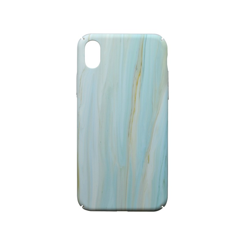 iPhone XR modré mramorové plastové puzdro, Creative