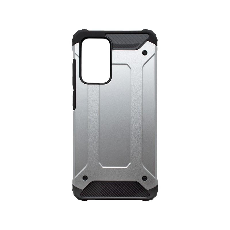 mobilNET Samsung Galaxy A52 plastové puzdro, strieborná Military