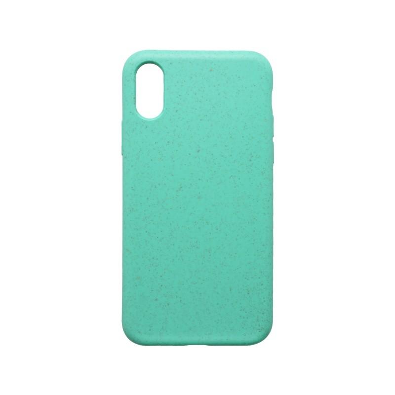 mobilNET recyklovateľné gumené puzdro Eco iPhone X / iPhone XS zelené