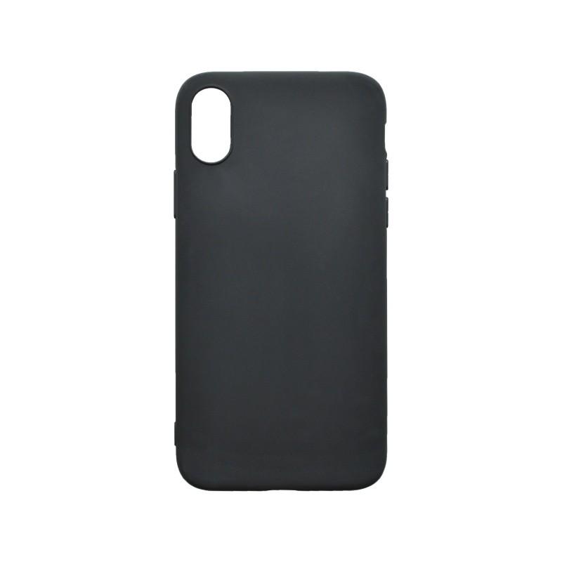 Matný gumený kryt iPhone XS čierny