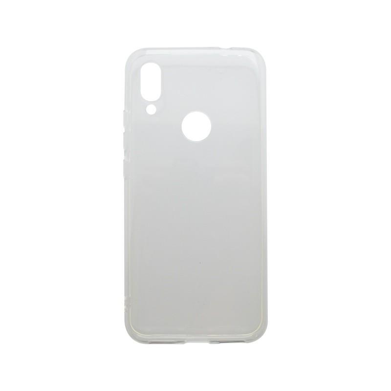 Silikónový kryt Huawei Y7 2019 priehľadný, nelepivý