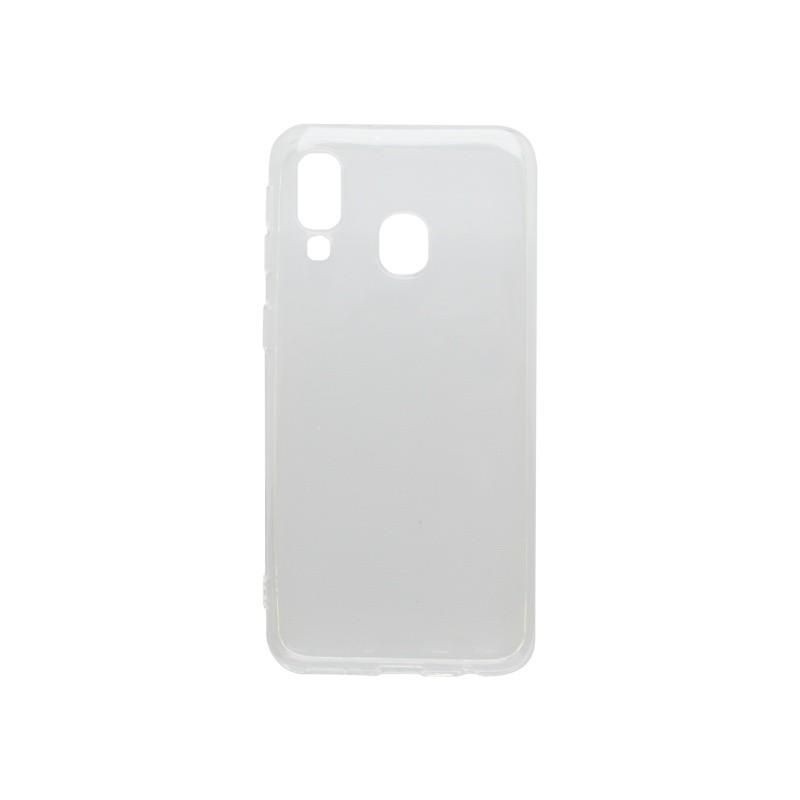 Silikónový kryt Samsung Galaxy A40 priehľadný, nelepivý