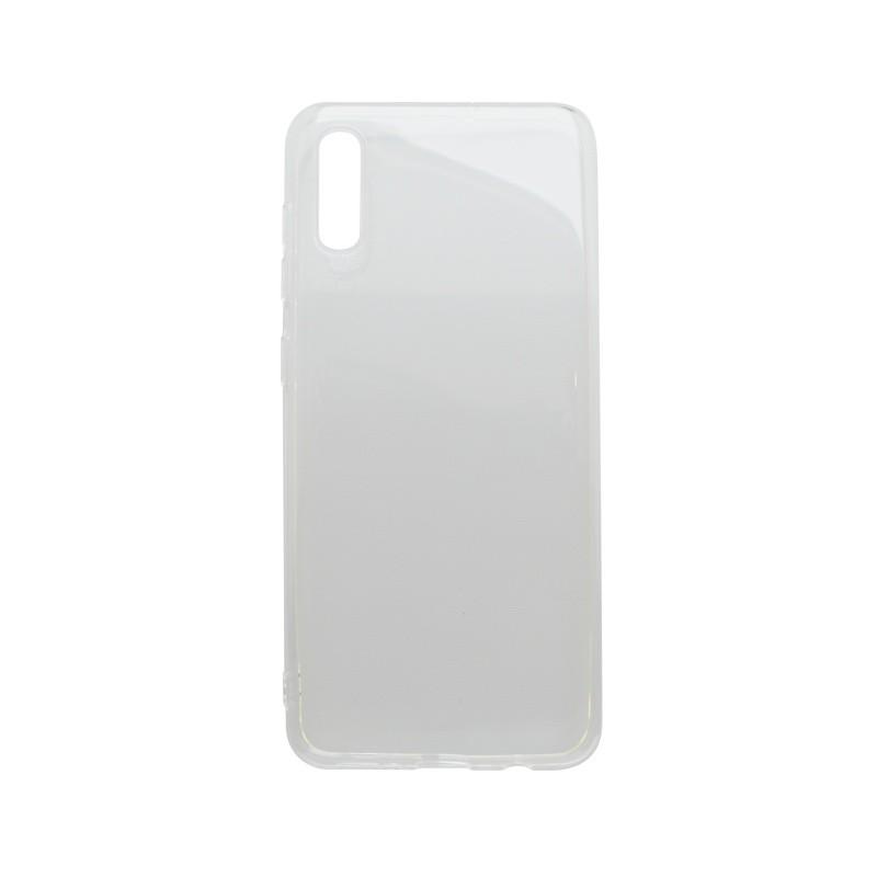 Silikónový obal Samsung Galaxy A50 priehľadný, nelepivý