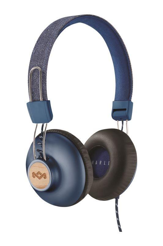 MARLEY Positive Vibration 2 slúchadlá na hlavu 3,5mm jack -  modrá