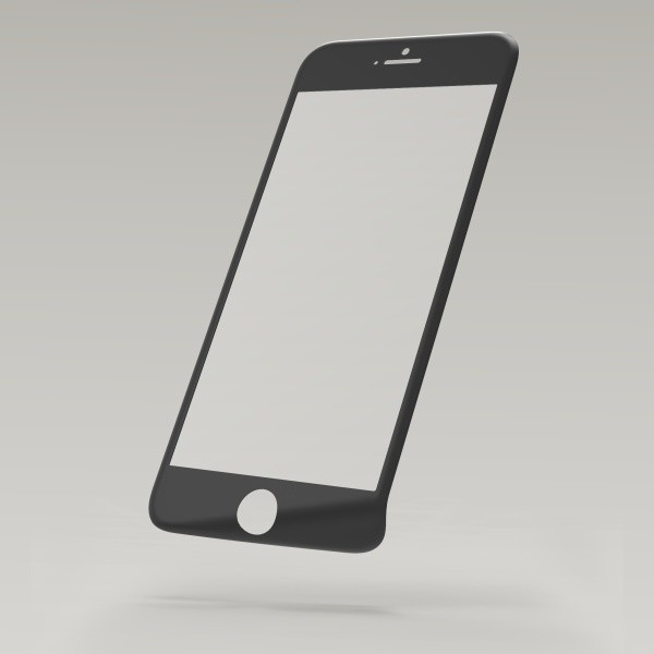 Sturdo ochranné sklo 3D Fiber iPhone 6S, čierne