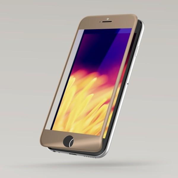 Sturdo ochranné sklo iPhone 7, 3D Fiber, Anti-blue filter, zlaté