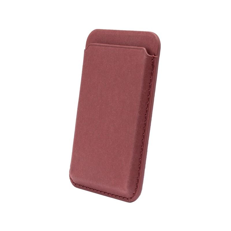 mobilNET Magsafe magnetické puzdro na karty, bordové