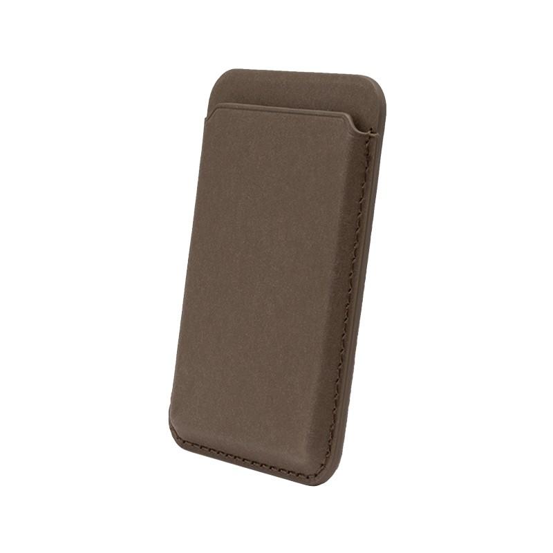 mobilNET Magsafe magnetické puzdro na karty, hnedé