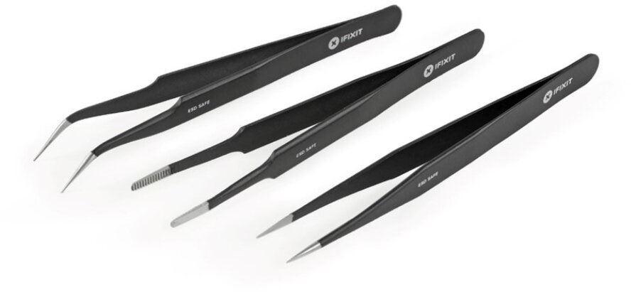 iFixit Precision Tweezers Set Pro. ESD Safe, sada 3 pinziet, servisné náradie