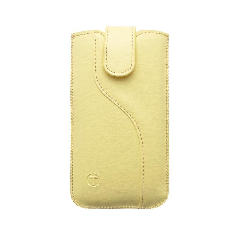 Univerzálne vsuvkové puzdro 4.7'  rozmer 138.4x67.3x7.3, S-line vzor, žltá
