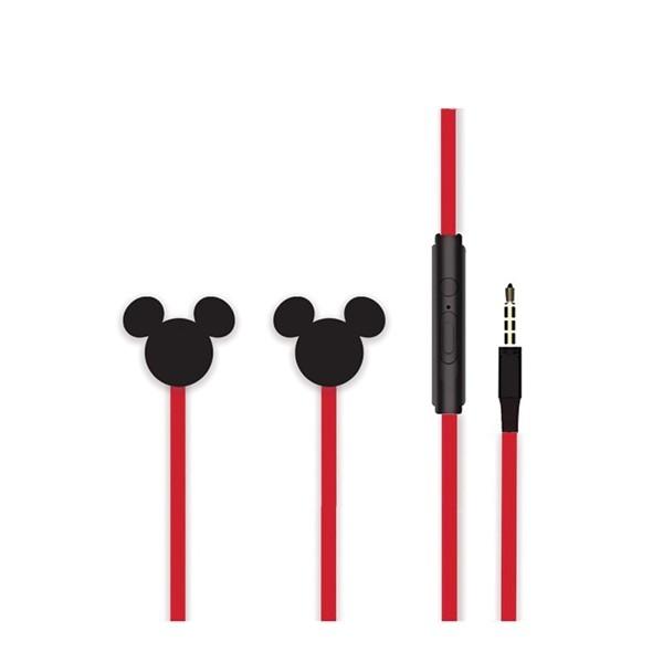 Disney Mickey 3D slúchadlá do uší Stereo, čierne DEPMIC014