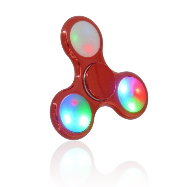 Műanyag Fidget Spinner LED fényekkel piros