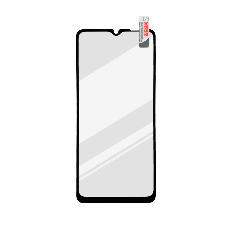 Samsung Galaxy A12 Kijelzővédő üveg fekete, full glue