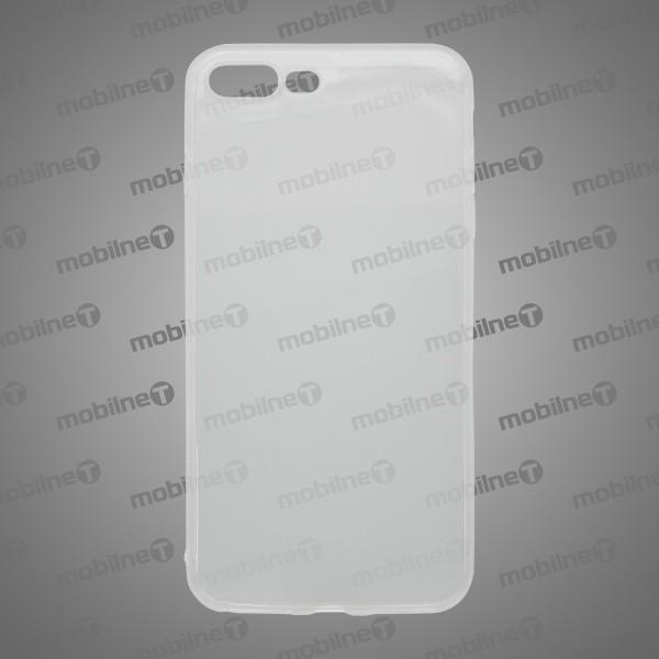 Tapadásmentes szilikon hátlapvédő tok iPhone 8 Plus, átlátszós