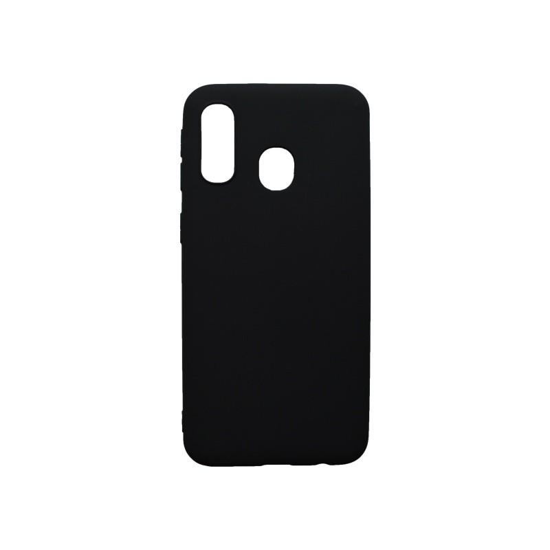 Gumis hátlapvédő tok Samsung Galaxy A40 fekete matt