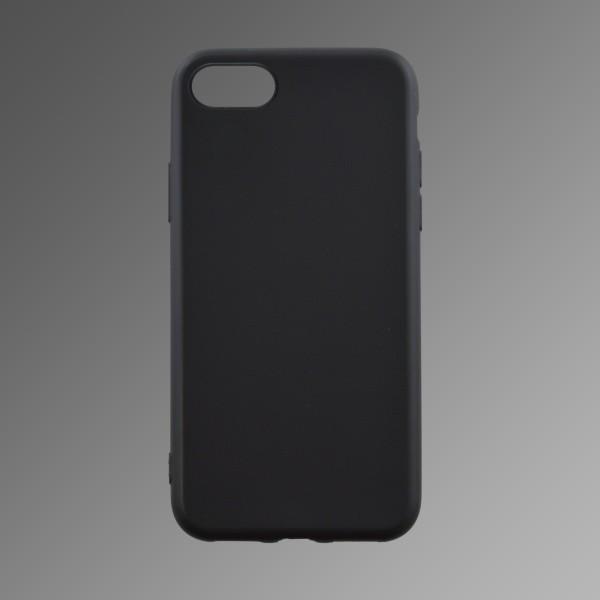 Szilikon hátlapvédő tok iPhone X fekete matt