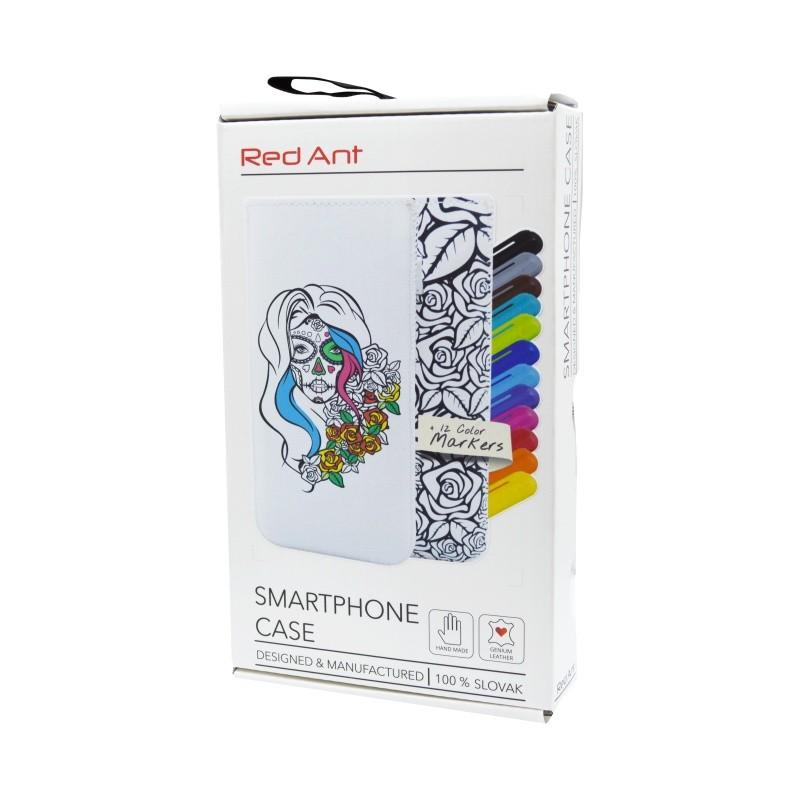 Kreatív kihúzós mobiltok Tattoo, 4XL, fehér