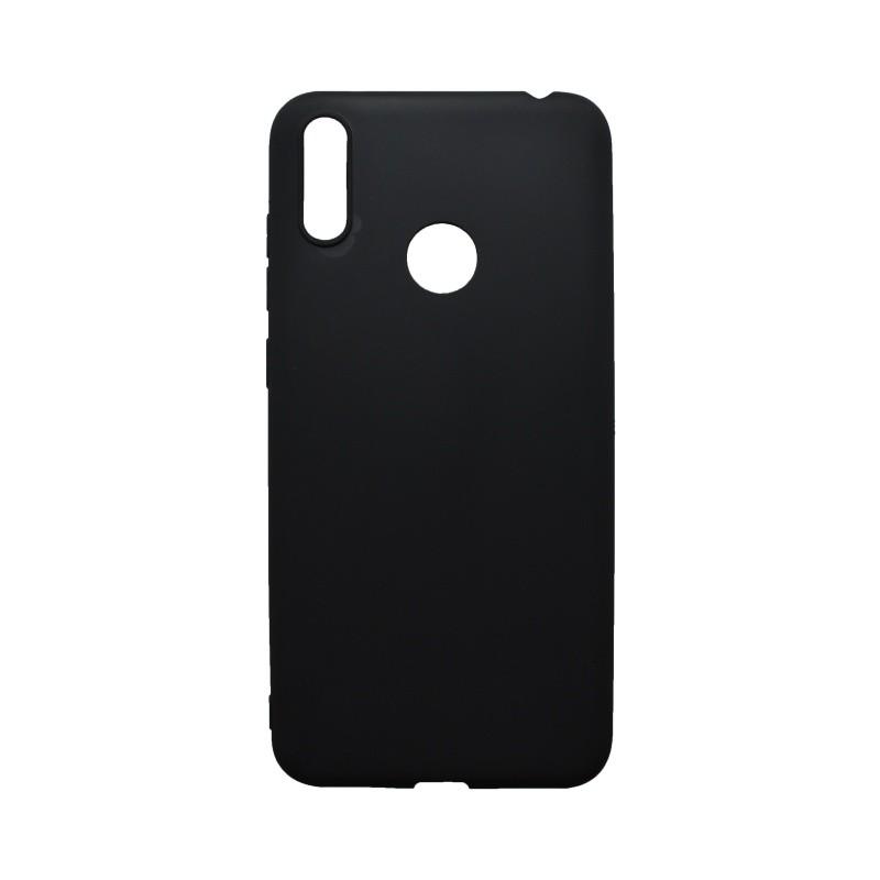 Gumis hátlapvédő tok Huawei Y7 2019 fekete matt