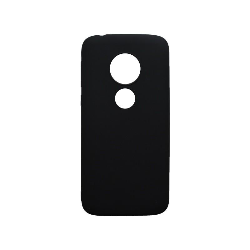 Szilikon hátlapvédő tok Moto E5 Play fekete matt