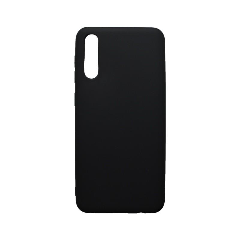 Gumis hátlapvédő tok Samsung Galaxy A50 fekete matt