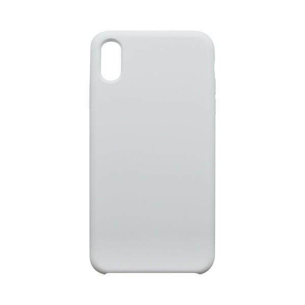 Hátlapvédő tok Silicon iPhone XS MAX fehér