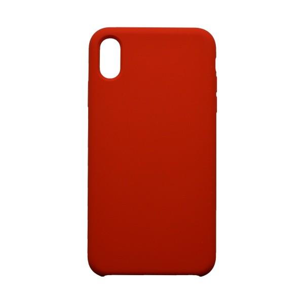 Hátlapvédő tok Silicon iPhone XS MAX piros