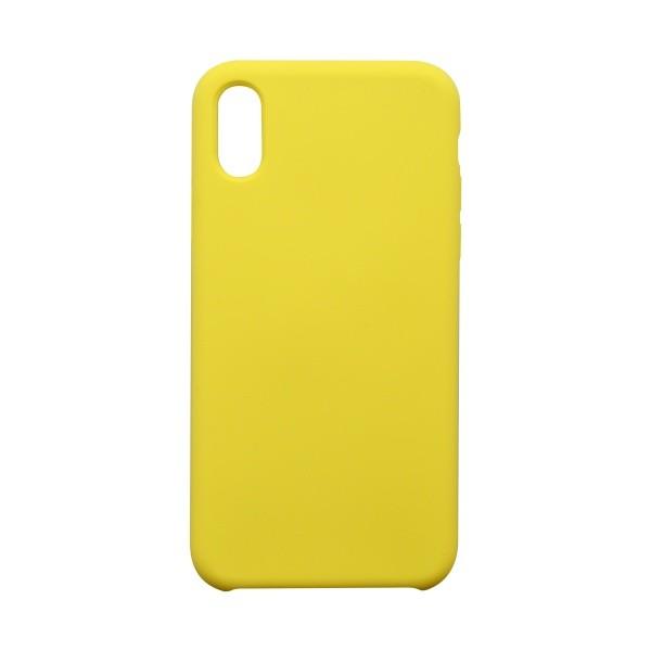 Hátlapvédő tok Silicon iPhone XS sárga