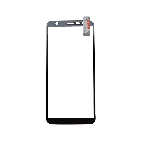 Kijelzővédő üveg Q sklo Samsung Galaxy J6 Plus fekete, fullcover, 0.33 mm