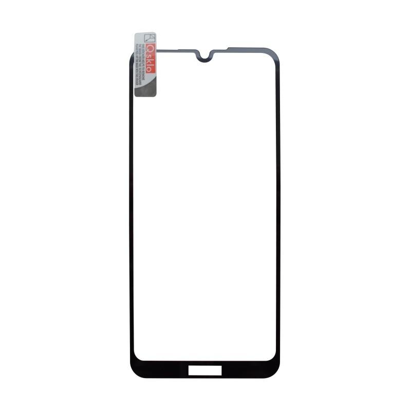 Kijelzővédő üveg Q sklo Huawei  Y6 2019 fekete, fullcover, full glue