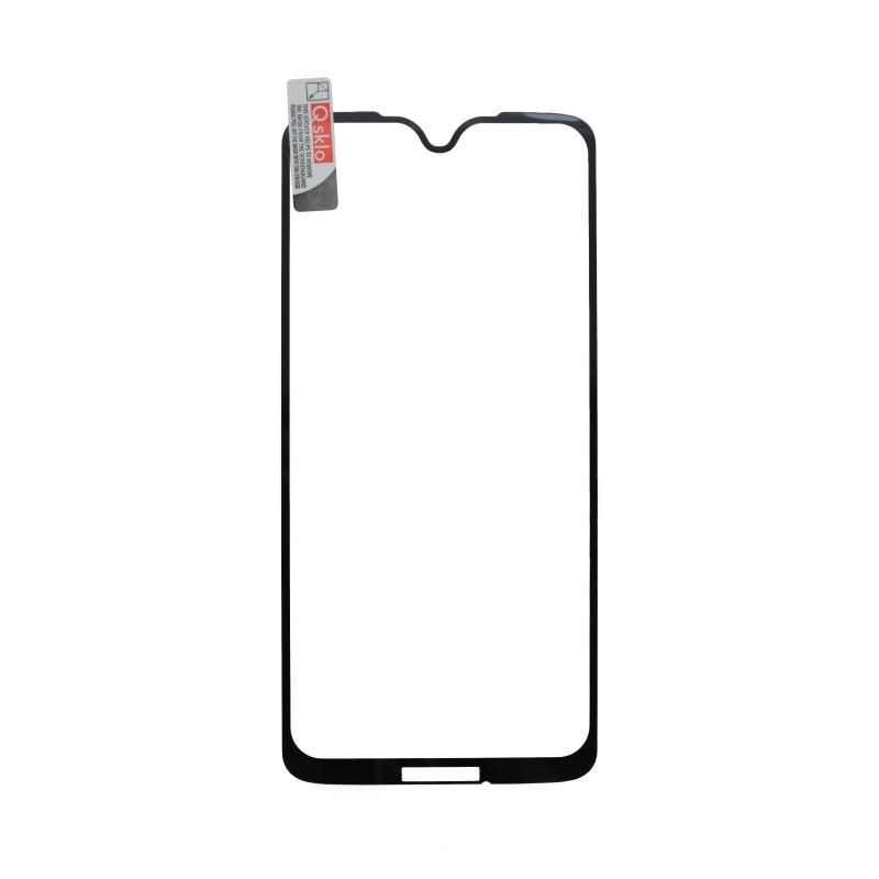 Kijelzővédő üveg Q sklo Moto G7 Plus fekete, fullcover, full glue