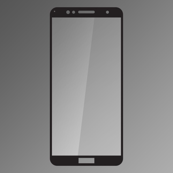 Kijelzővédő üveg Q sklo Huawei Honor 7A fekete fullcover 0.33mm