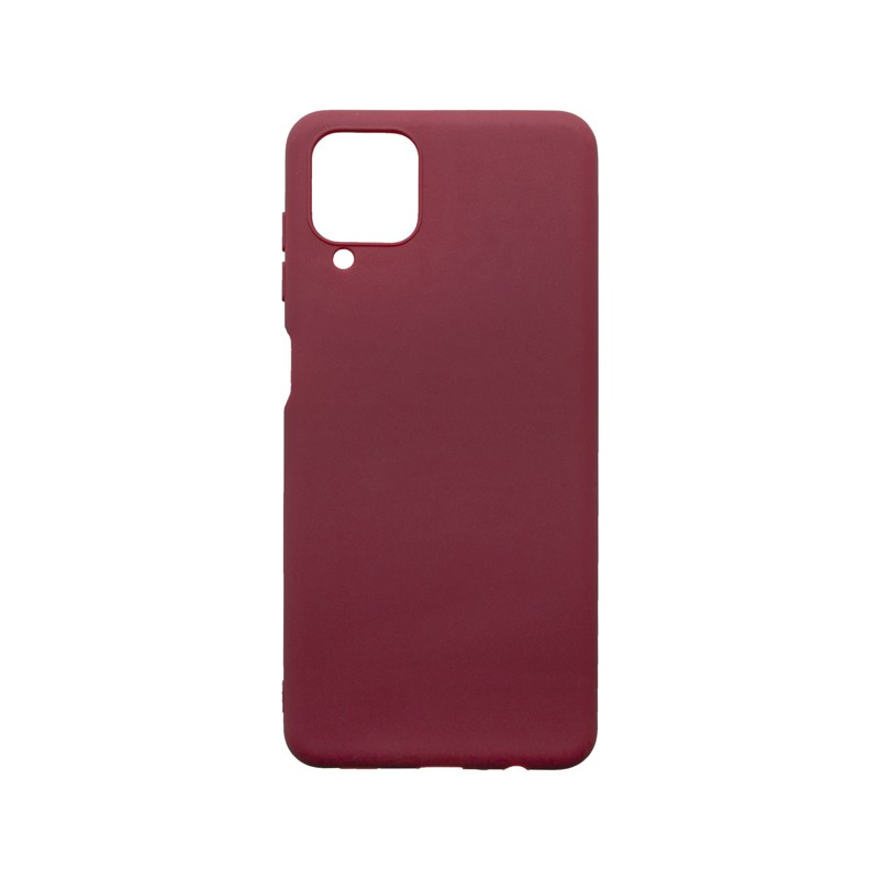 mobilNET Tapadásmentes hátlapvédő tok, bordó matt, Samsung Galaxy A12
