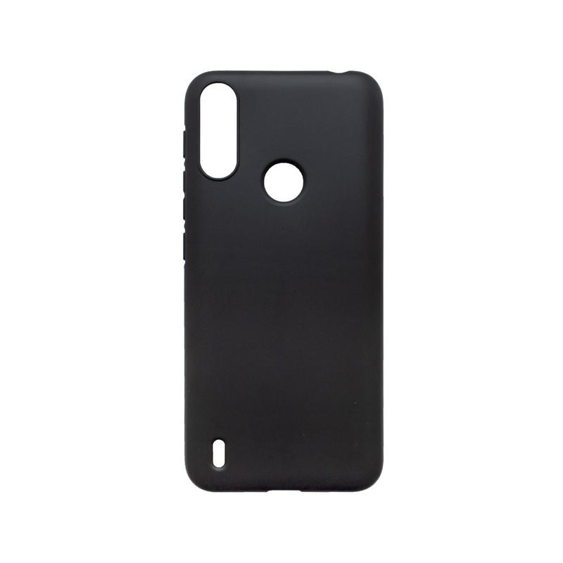 Motorola E7 Power Tapadásmentes hátlapvédő tok, fekete matt