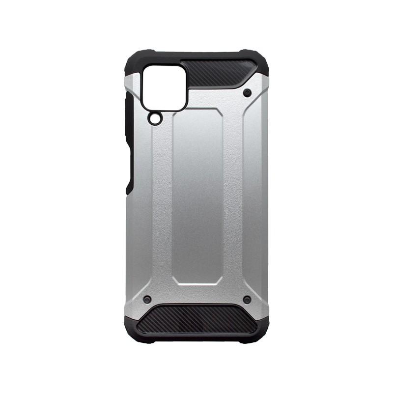 Samsung Galaxy A12  Kemény hátlapvédő tok, ezüst Military